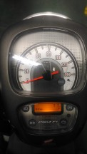 new scoopy stylish black brown console meter