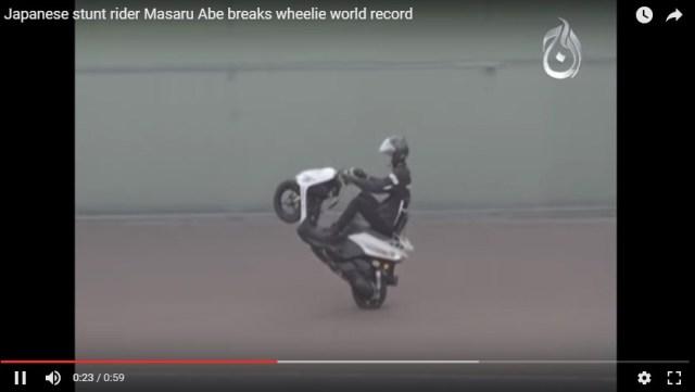 rekor baru wheelie pecah