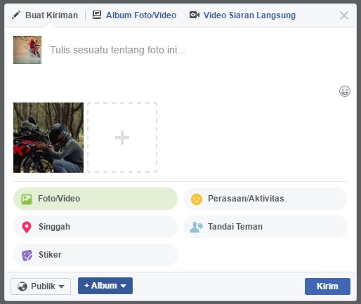 membuat status facebook dengan background 3