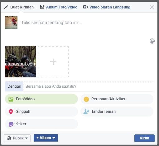membuat status facebook dengan background 6