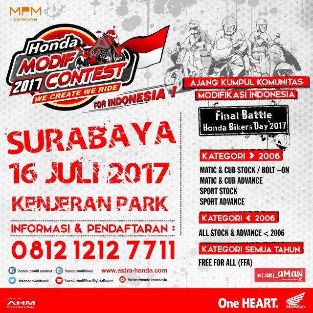 Honda Modif Contes Surabaya