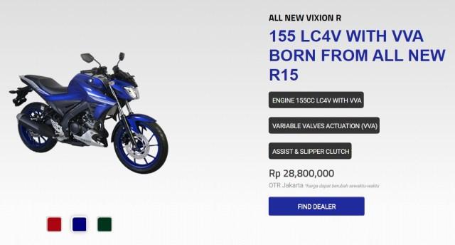 pilihan warna vixion-R Blue Silver