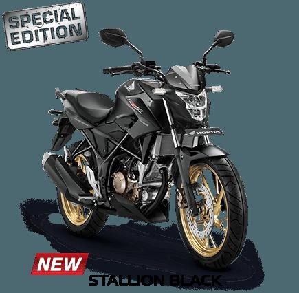 warna baru CB150R stallion black
