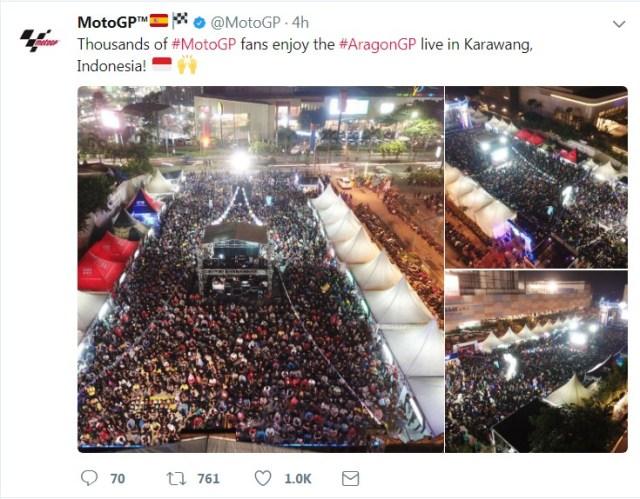 foto nobar Indonesia diunggah motogp
