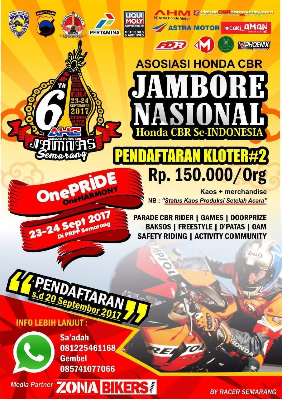 Club Cbr Riders Papua Ikuti Jamnas Honda Ke 6 Di Semarang All New 150r Racing Red Kota Mantab Kang Atasaspal