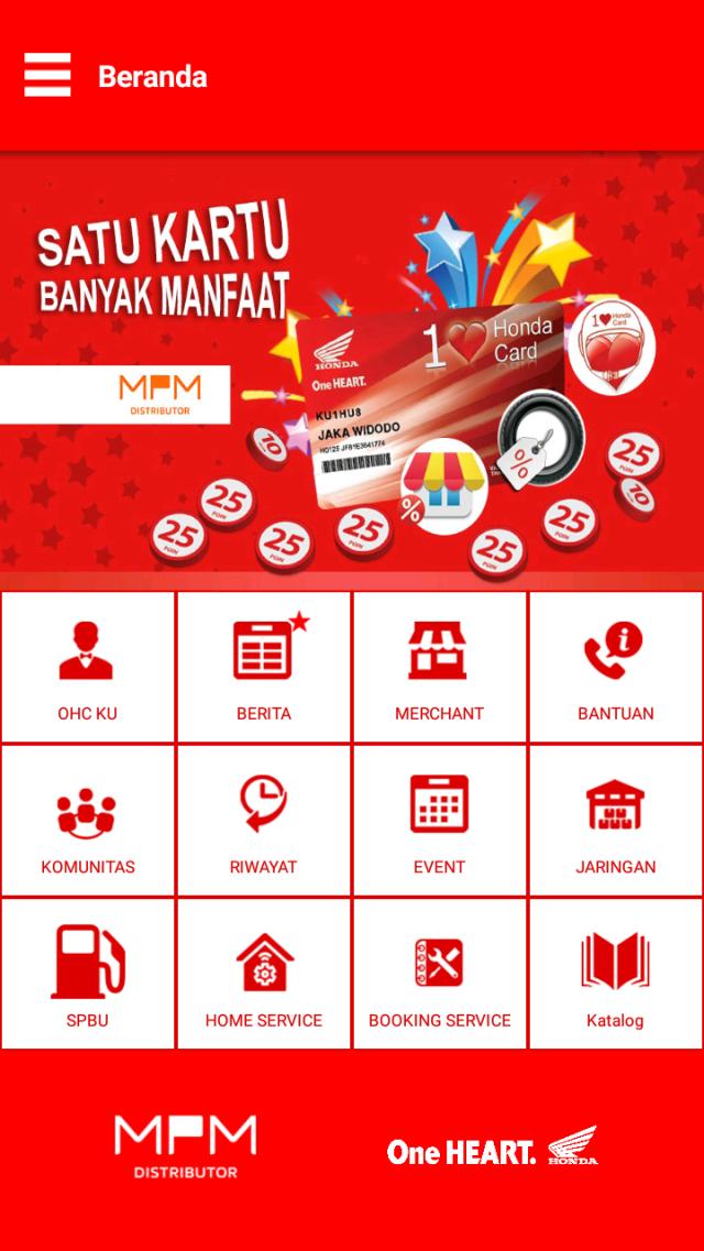 One Heart Card App