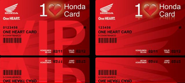 one heart card