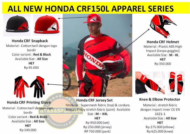 harga apparel crf150l