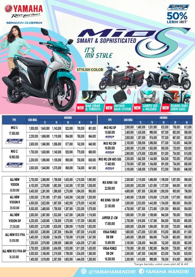 harga terbaru motor Yamaha 1
