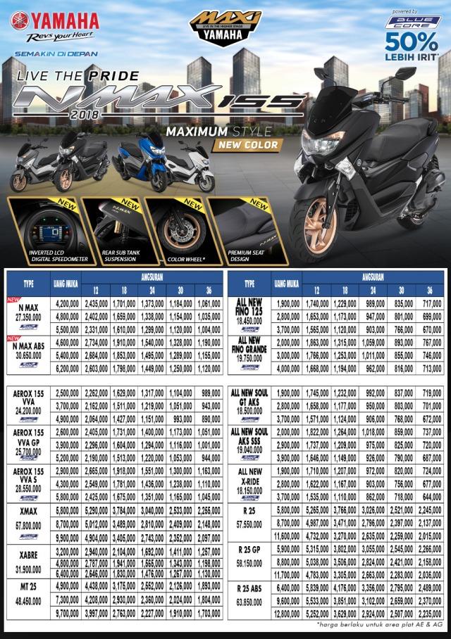 harga terbaru motor Yamaha 2