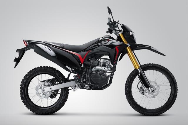 warna baru CRF150L.Extreme Black atasaspal.com